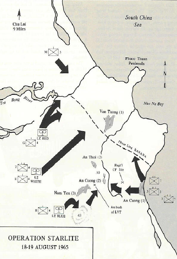 Operation Starlite Map